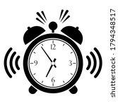 ringing alarm clock vector icon ... | Shutterstock .eps vector #1794348517