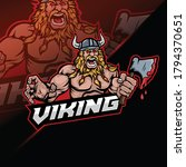 viking with ax mascot designs... | Shutterstock .eps vector #1794370651
