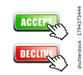 accept or decline vector... | Shutterstock .eps vector #1794373444