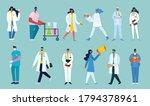 team doctors on a blue... | Shutterstock .eps vector #1794378961