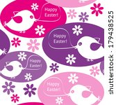 easter seamless card with birds | Shutterstock .eps vector #179438525