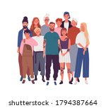 diversity of people in modern... | Shutterstock .eps vector #1794387664