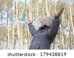 cheerful mature man out for a... | Shutterstock . vector #179438819