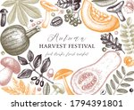 hand sketched autumn design in...   Shutterstock .eps vector #1794391801