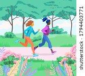 vector illustration of running... | Shutterstock .eps vector #1794403771