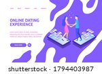 online dating and virtual... | Shutterstock .eps vector #1794403987