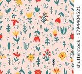 vector floral seamless pattern... | Shutterstock .eps vector #1794404521