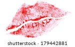 sexy beautiful red lips... | Shutterstock . vector #179442881