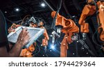 heavy automation robot arm...   Shutterstock . vector #1794429364
