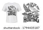 Duck Bird Hunting T Shirt Print ...