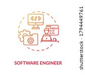 software engineer red gradient... | Shutterstock .eps vector #1794449761