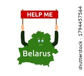 belarus  a country in europe... | Shutterstock .eps vector #1794457564
