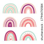 collection of bright rainbows ... | Shutterstock .eps vector #1794470584