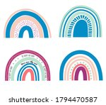 collection of bright rainbows ... | Shutterstock .eps vector #1794470587
