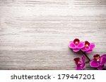 spa stones on wooden background ... | Shutterstock . vector #179447201