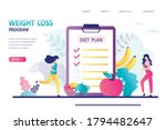 concept of weight loss program  ...   Shutterstock .eps vector #1794482647