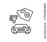 funnel  car repair icon. simple ...