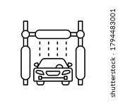 car wash machine  car icon....