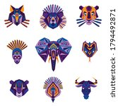 geometric icons of african... | Shutterstock .eps vector #1794492871
