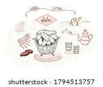dates fruits vector... | Shutterstock .eps vector #1794513757