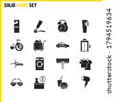tourism icons set with air...