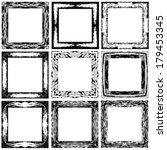 set grunge abstract frames....   Shutterstock .eps vector #179453345