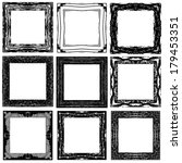 set grunge abstract frames.... | Shutterstock .eps vector #179453351