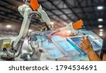 heavy automation robot arm...   Shutterstock . vector #1794534691