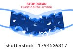 stop ocean plastics pollution ... | Shutterstock .eps vector #1794536317