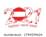 happy new 2021 year with flag... | Shutterstock .eps vector #1794559624
