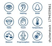 icon set of human senses of... | Shutterstock . vector #1794559861