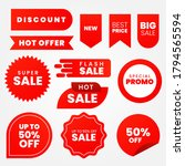 sale   creative labels set... | Shutterstock .eps vector #1794565594