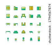 furniture icon set vector flat... | Shutterstock .eps vector #1794567874