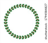 green wreath or laurel with red ... | Shutterstock .eps vector #1794584827