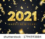 happy new year 2021 long banner.... | Shutterstock .eps vector #1794593884