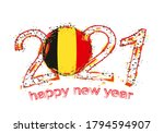 happy new 2021 year with flag... | Shutterstock .eps vector #1794594907