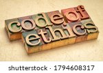 Code Of Ethics Text In Vintage...