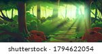 tropical jungle day background... | Shutterstock . vector #1794622054