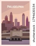 Philadelphia Retro Poster....