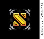 typography of embossed letter s ... | Shutterstock .eps vector #1794640144