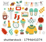 vector set of cozy home hand... | Shutterstock .eps vector #1794641074