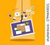 hacker phishing personal data ... | Shutterstock .eps vector #1794643021