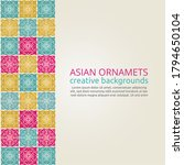 set of islamic ornaments in... | Shutterstock .eps vector #1794650104