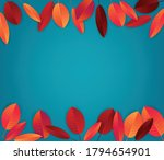autumn leaves background. fall... | Shutterstock .eps vector #1794654901
