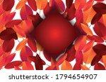 autumn leaves background. fall... | Shutterstock .eps vector #1794654907