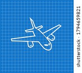 blue banner with airplane icon. ... | Shutterstock .eps vector #1794659821