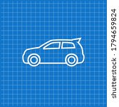 blue banner with car icon.... | Shutterstock .eps vector #1794659824