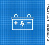 blue banner with car battery... | Shutterstock .eps vector #1794659827