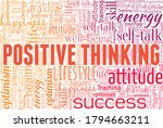 positive thinking word cloud...   Shutterstock .eps vector #1794663211