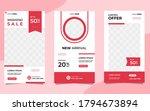 set of minimalist background... | Shutterstock .eps vector #1794673894